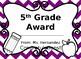 End of the Year Editable Award