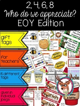 End of the Year Edition… Appreciation Gift Tags