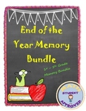 End of the Year Elementary 1st-5th Memory Bundle/Fun Activities