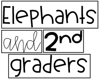 End of the Year Elephant Memory Craftivity