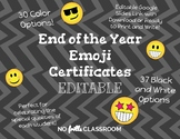 #nofrillsfun End of the Year Emoji Certificates BW+Color O