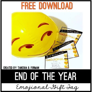 End of the Year - Emoji Gifttag #EOYGiftsforBigKids