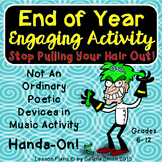 End of the Year English Activity