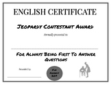 End of the Year English Awards
