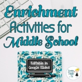 End of the Year Enrichment Activities - Editable in Google Slides