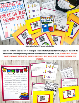 End of the Year Escape Room Memory Book Cracking the Classroom Code™ Grades 3-6
