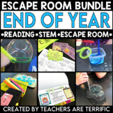 End of the Year Escape Room and Flipper Book Bundle