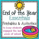 End of the Year Activities and Printables