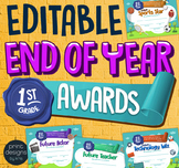 End of the Year FIRST GRADE Student Superlative Awards Certificates
