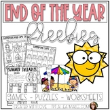 End of the Year FREEBIES: Puzzles, Games, and Worksheets