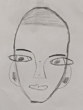 End of the Year Face Measurement Drawing