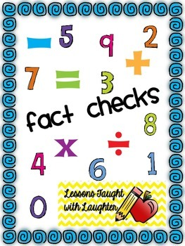 End of the Year Fact Check Sheets