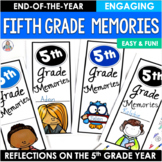 End of the Year Activity Fifth Grade Memories