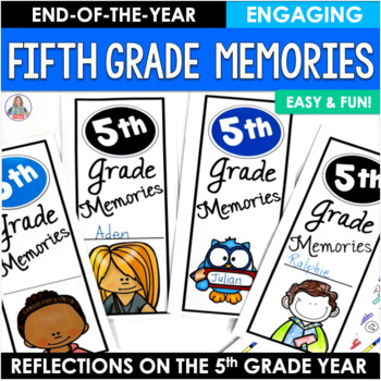 End of the Year Activity Fifth Grade Memories Brochure