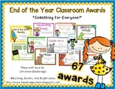 End of the Year Fillable Classroom Awards
