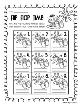 End of the Year: Flip Flop Telling Time Match (Quarter Past/After)
