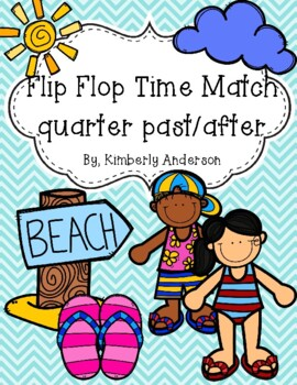 End of the Year: Flip Flop Telling Time Match (Quarter Pas