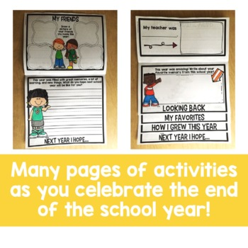 End of the Year Flip Up Book