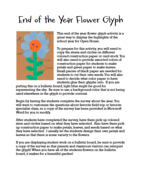 End of the Year Flower Glyph