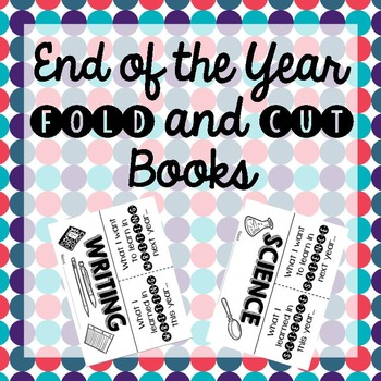 End of the Year Fold and Cut Books