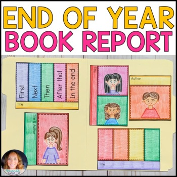 End of the Year Interactive Book Report: FREE