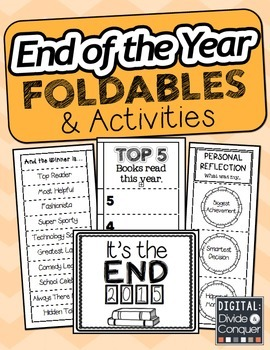 End of the Year Foldables and Activities