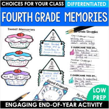 End of the Year Activity Fourth Grade Memory Brochure
