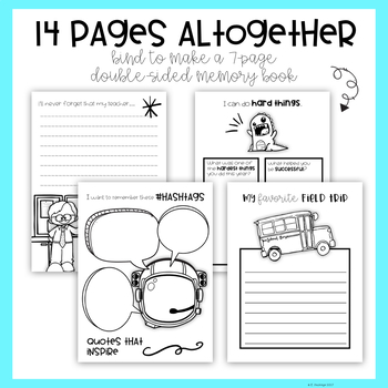 End of the Year: Fourth Grade Memory Book