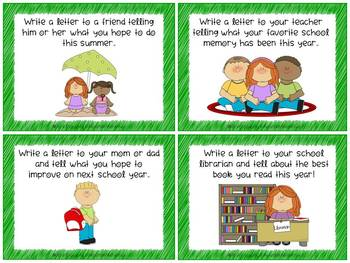 End of the Year Friendly Letter Task Cards