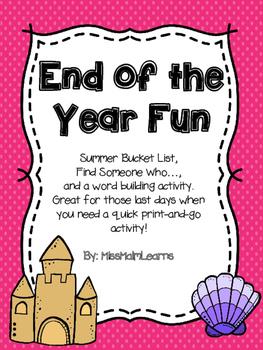 End of the Year Fun- FREEBIE