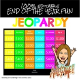 End of the Year Fun Jeopardy Style Game