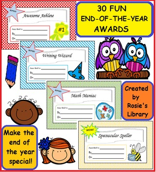 End-of-the-Year Fun Student Awards