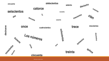 Interactive Vocabulary Game in Spanish (Numbers)