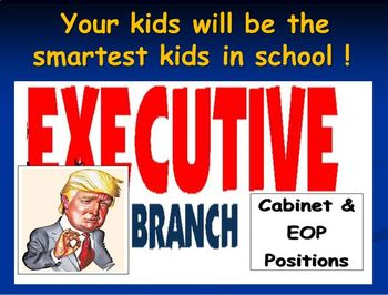 End of the Year Game: Current Events Executive Branch