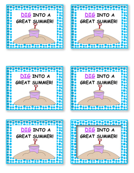 End of the Year Gift (DIG into a Great Summer!)