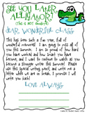 End of the Year Gift - Letter from Teacher