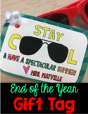 End of the Year Gift Tag-(editable)