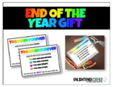 End of the Year Gift Tag - Friendship Bracelet