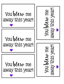 End of the Year Gift Tag - You Blew Me Away This Year!