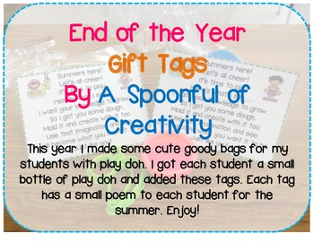 End of the Year Gift Tag Labels