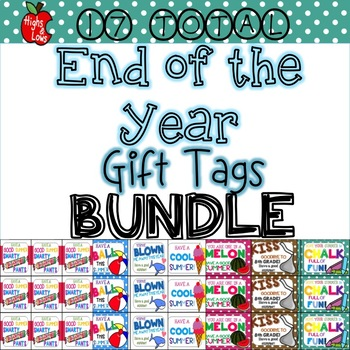 End of the Year Gift Tag Mega Bundle