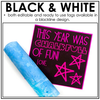 End of the Year Gift Tag (This Year was Chalk Full of Fun!)