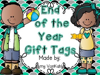 End of the Year Gift Tags!