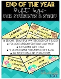 End of the Year Gift Tags for Students and Staff