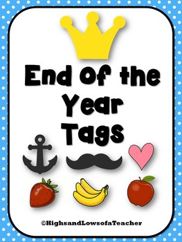 End of the Year Gift Tags BUNDLE (Punny Tags)