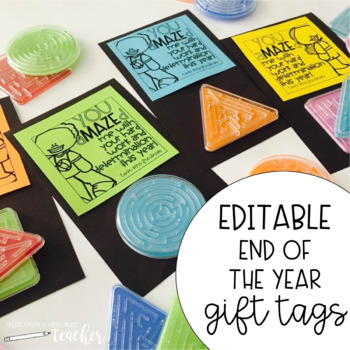 End of the Year Gift Tags {Editable}