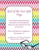End of the Year Gift Tags - I'm so BRIGHT, I need shades
