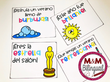 End of the Year Gift Tags {Spanish}