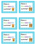 End of the Year Gift Tags for Play Doh