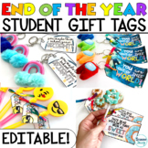End of the Year Gift Tags for Students | Editable Student